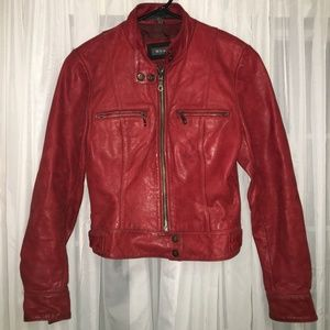 VINTAGE Red Leather Jacket!
